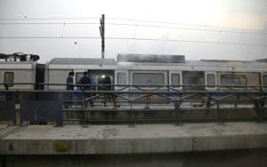 Delhi Metro coach catches fire at Patel Nagar