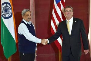 India-US vow to deepen defence ties as Parrikar, Carter meet for the...