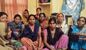 A meeting of domestic workers in New Delhi to discuss their grievances and learn about their rights