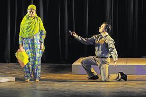 A scene from  Bol Ke Lab Azad Hain Tere, a play based on the life of the famous Urdu poet Faiz Ahmed Faiz.