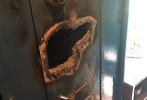 Thieves drill hole in jewellery store's iron safe, loot valuables,...