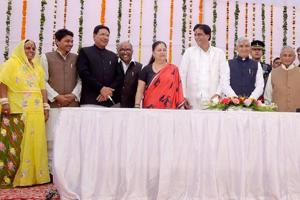 Raje expands ministry with an eye on elections