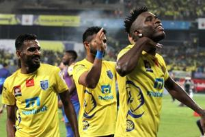 Kervens Belfort scored the winner for Kerala Blasters against Delhi Dynamos in their Indian Super League encounter.