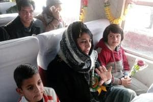 Mehbooba Mufti flags off children-special fortnightly train 'Vaadi ki...
