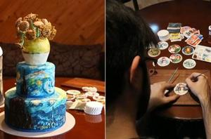 Watch   Fine art on cakes and cookies