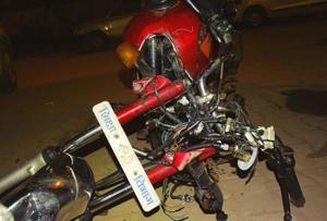 Two persons fell in a drain and died after their bike collided with the pavement in Knowledge Park area, Greater Noida.