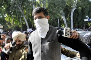 Inderpal Mahajan was arrested by police following a raid in his house.