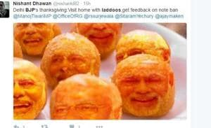 Delhi's BJP members offer laddoos, Twitter mocks with bitter comments