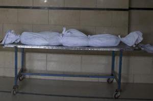 A dead body kept at a morgue in Karachi.