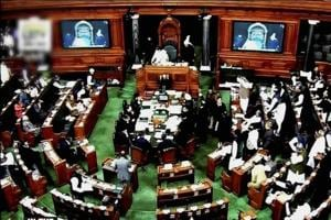 A scene in the Lok Sabha during the ongoing winter session of Parliament, in New Delhi on Wednesday.