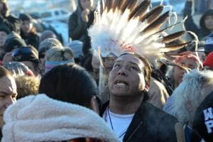 For months, people have camped on the now frozen plains of Standing Rock reservation to block the completion of the nearly $4 billion Dakota Access Pipeline. The remaining section of pipeline is supposed to pass under the Missouri River, close to the Standing Rock reservation. Indigenous activists claim it will endanger the local environment and violate the sanctity of their sacred lands