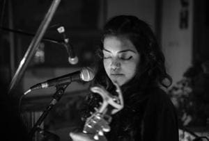 Singer Christabel Menezes performs at a home in Hauz Khas earlier this year. The evening was organised by House Concert Delhi, a group of  young people who want to create intimate spaces for an attentive audience.