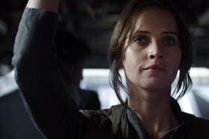 Felicity Jones plays Jyn Erso, a flawed protagonist driven not my the mythical 'Force' but human courage.
