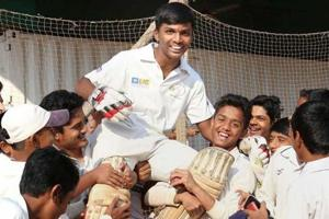 A file photo of Pranav Dhanawade after he created history scoring 1009 not out earlier this year.