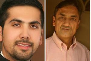 Angad Saini and (right) Satvir Singh Palli Jhiiki