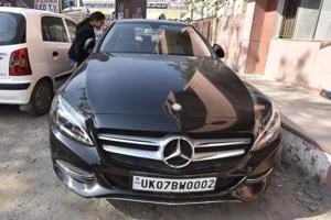 A 17-year-old was killed in a black Mercedes car (in photo) in Najafgarh on November 22, 2016. The accused fled the spot and has been on the run since.