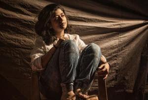 Nidhi Bisht poses for the camera at Film City.