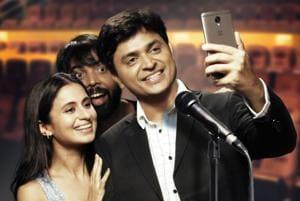 Actors Vipul Goyal and Rasika Duggalin a still from Humorously Yours.