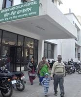 The Mother and Child Hospital in Jalandhar on Sunday.