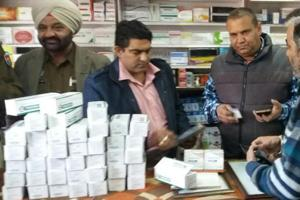 The surprise inspections are being carried out by drug inspectors accompanied by police officials at the chemist shops.