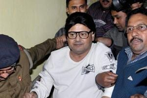 Trinamool Congress MP Tapas Paul was arrested by CBI in connection with the Rose Valley chit fund scam, in Kolkata on December 30, 2016.