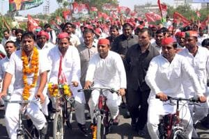 For two-and-a-half decades, Samajwadi Party's cycle has represented a social identity that has grown stronger than the leaders who own it.