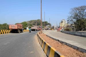One lane of the bypass is complete and temporary movement of vehicles has been allowed to test its efficacy.