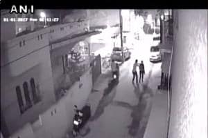 Footage of the assault that reportedly took place in Bengaluru's Kamanahalli area at 2.41 am on Sunday.