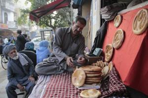 A bread shop in Bhogal owned by Hassan Faizi, who migrated to India about 10 years ago, employs many Afghans and is popular for authentic Afghan breads.