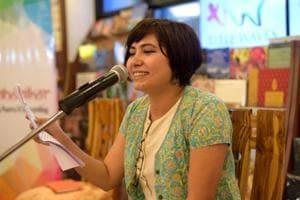 Writer and poet Neha Bahuguna at Kahanikar's first edition