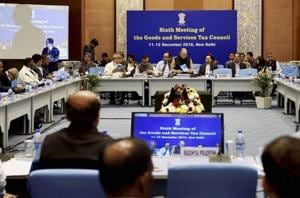 In this file photo, Union finance minister Arun Jaitley can be seen chairing the sixth Goods and Services Tax (GST) Council meeting in New Delhi . He once described Prime Minister Narendra Modi's demonetisation exercise and the passage of the GST bill as two 'big-bang reforms' that would change the game.