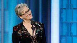 In her award-winning speech at the Golden Globe awards today, actor...