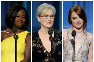 """""""This is a film for dreamers,"""" Emma Stone said. """"For any creative person who has had a door slammed in their face, metaphorically or literally ... I share this with you."""" Along with Meryl Streep, Viola Davis and Ryan Gosling, she gave one of the best speeches of the show."""