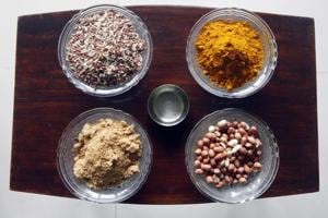 Unprocessed rice grown by Madhi tribal farmers, turmeric, groundnuts from Mumbai Sulins