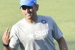 MS Dhoni attracted the fans to the Brabourne Stadium on Tuesday. Dhoni is leading the Indian A team against England XI.