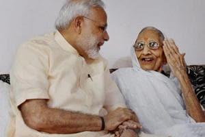 Modi meets his mother