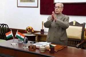 President Pranab Mukherjee delivering the New Year message to the Students and faculty of Higher learning and Probationary Officers of Civil Services Academies through Video Conference from Rashtrapati Bhavan in New Delhi on Tuesday.