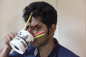 Comedian Naveen Richard at his Bandra apartment