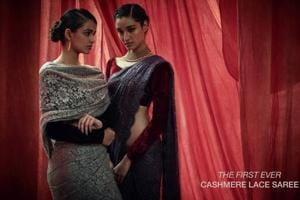 World's first-ever Cashmere lace sari: Delhi girl gives a sari-torial twist