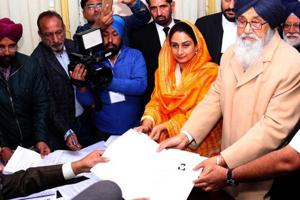 Punjab Chief Minister Parkash Singh Badal on Thursday filed his...