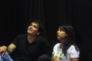 Manav Kaul as Sudhir and Sugandha Garg as Aarti in Kaul's Chuhal.