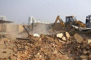 Gurgaon civic body razes more illegal structures in three drives