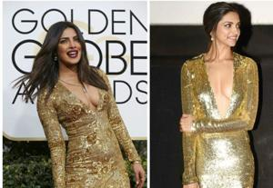 Who rocked the golden dress better?