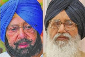 Captain Amarinder Singh and Punjab CM parkash Singh Badal