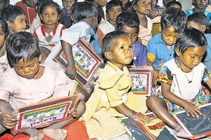 Representative photo:  The study rues that although Bihar has nearly 3.4 crore school going children in the age group of 6 to 18 years, about 2 lakh posts of teachers are vacant in the state (Diwakar Prasad/ HT Photo)