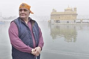 In his memoir, Khullam Khulla, actor Rishi Kapoor comes across as the straight arrow that he is known to be as he walks the reader through his life, warts and all. The actor pictured during a visit to the Golden Temple in Amritsar in December 2016.