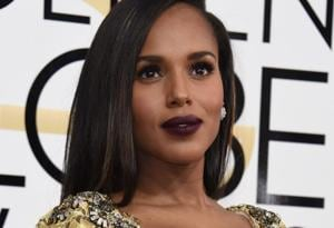 Kerry Washington rocked the dark pout at the recently held Golden Globes.