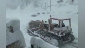 The Jammu-Srinagar national highway was closed on Monday morning...