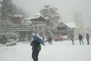 Shimla experiences fresh snowfall, temp at -0.2; Kufri, Narkanda cut...