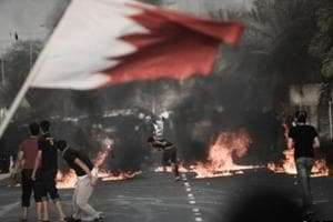 Building torched as protest erupts in Bahrain after executions of...